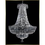 12 lights crystal chandelier in polished chrome finish