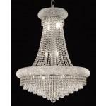 14 Light Crystal chandelier in chrome finish