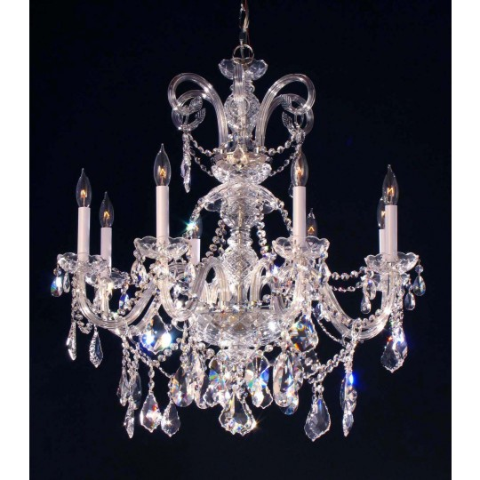 8 Lights Bohemian Crystal Chandelier In