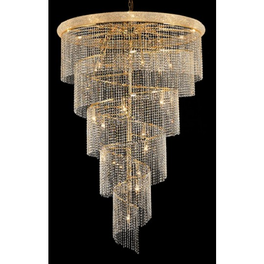 29 light spiral crystal chandelier gold plated chandeliers 29 light spiral crystal chandelier gold plated aloadofball Image collections